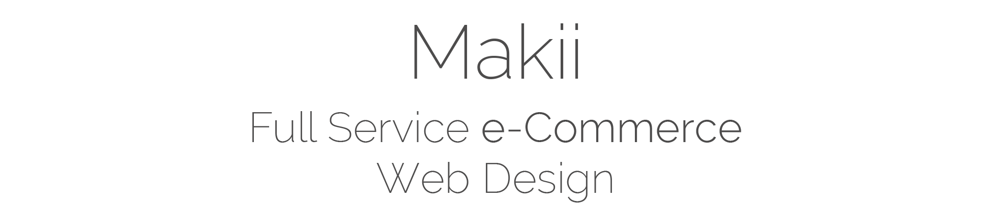 Makii Logo Central Coast Full Service e-Commerce Web Design
