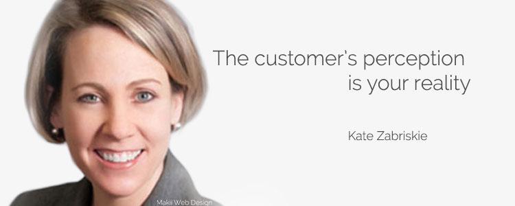 Service quotes Kate Zarbriskie
