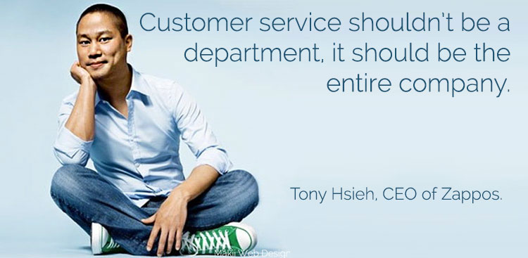 Service quotes Zappos