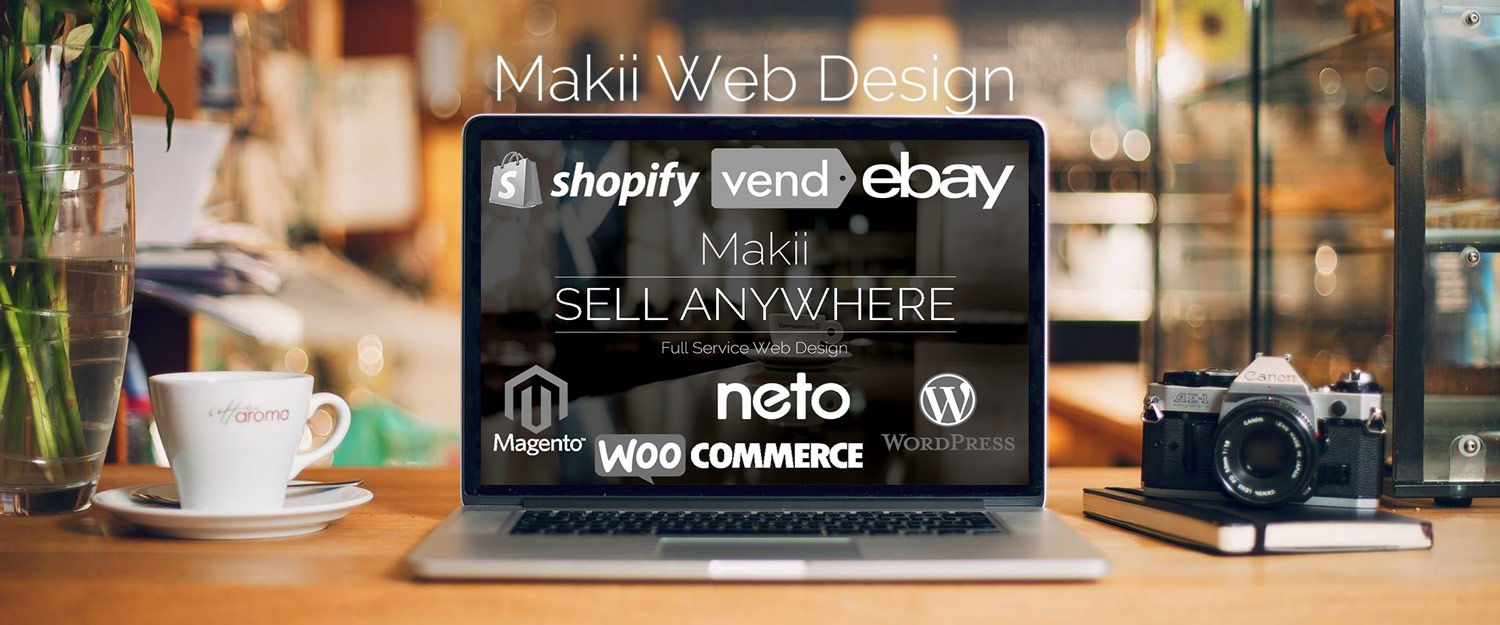 e-commerce web designers online retail experts Makii Central Coast